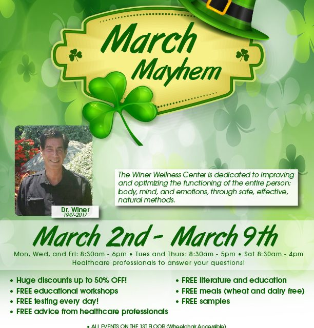 Winer Wellness Week, March Mayhem!